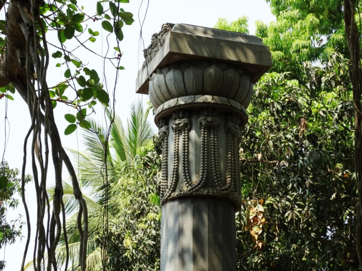 The top of Subha Stambha with Kirtimukh heads