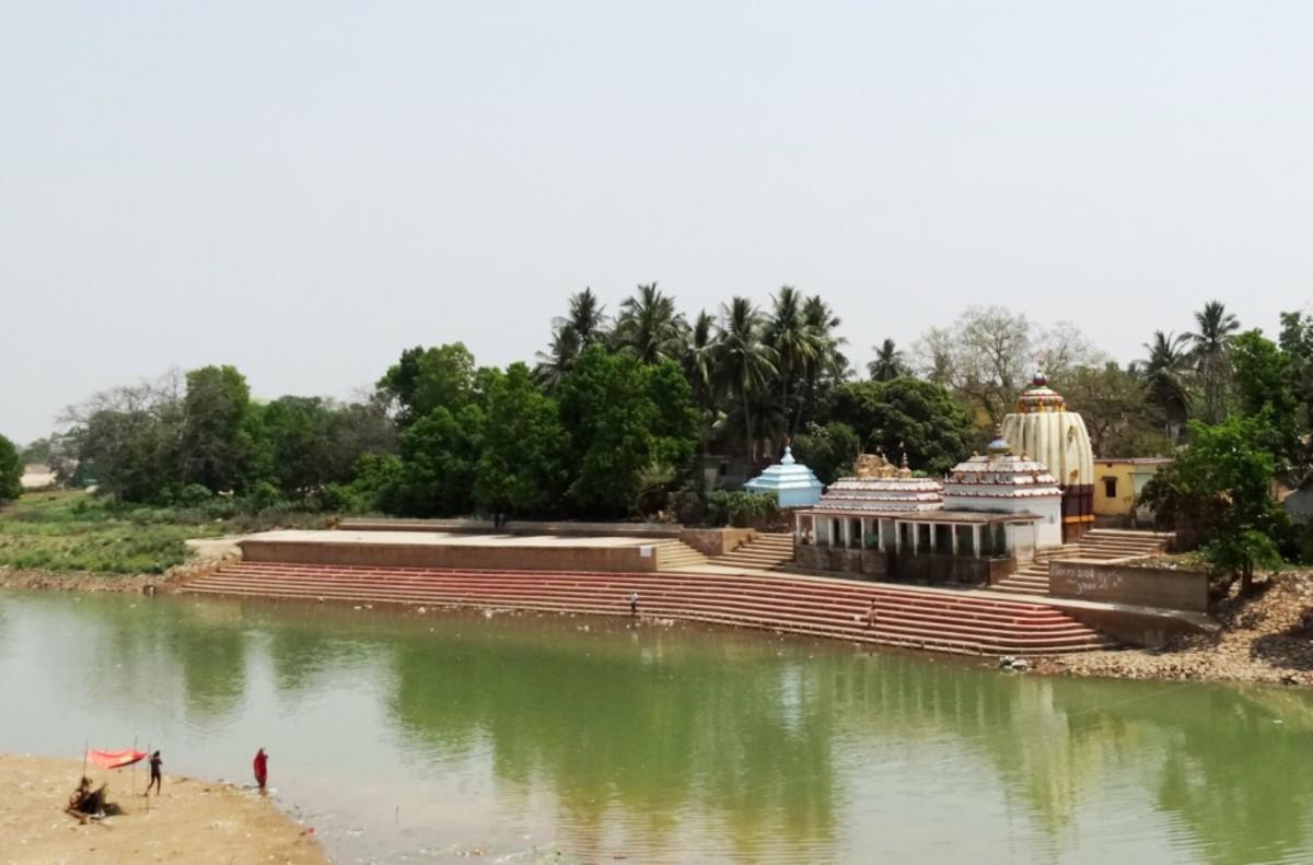 Dashaswamedh Ghat on the river Baitarani at Jajpur