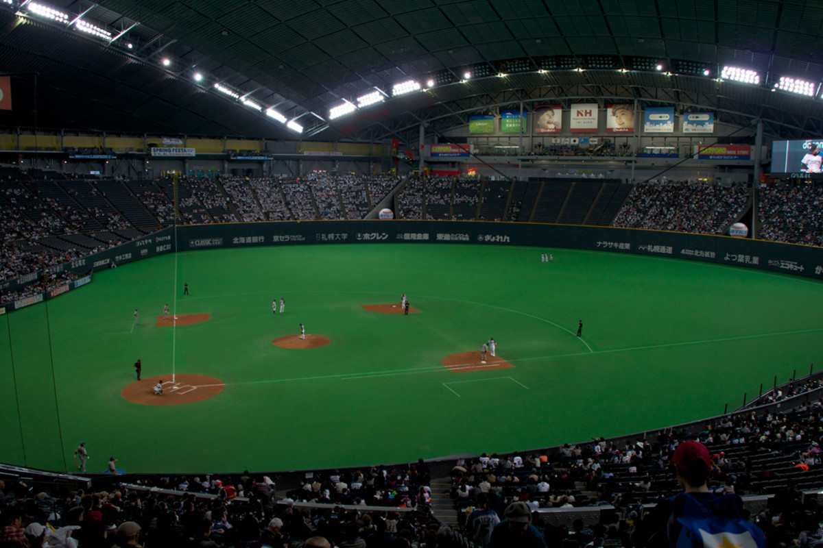 The Sapporo Dome, Japan. Studies by Leonard (1998) showed that domed baseball stadia helped increase home-field advantage by 3-4%