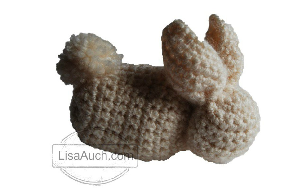 Easy Crochet Bunny Pattern- made from a Square