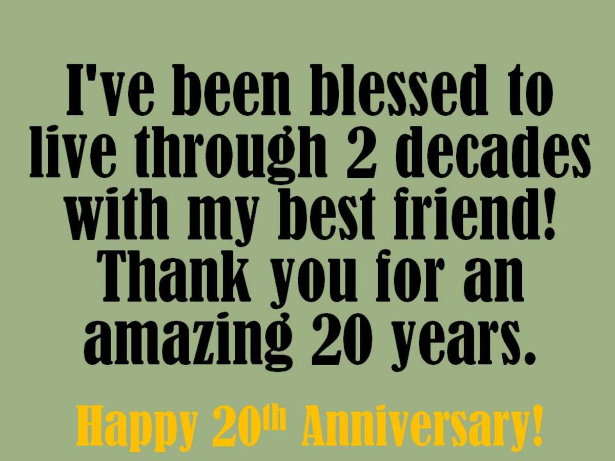 20th Anniversary Wishes Quotes And Messages To Write In A Card Hubpages