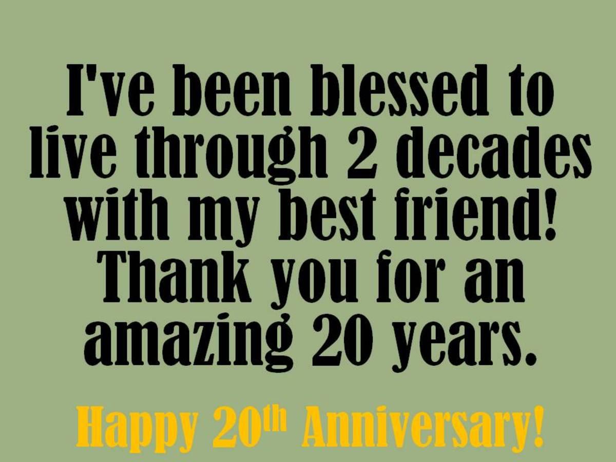 20th Anniversary Wishes Graphics