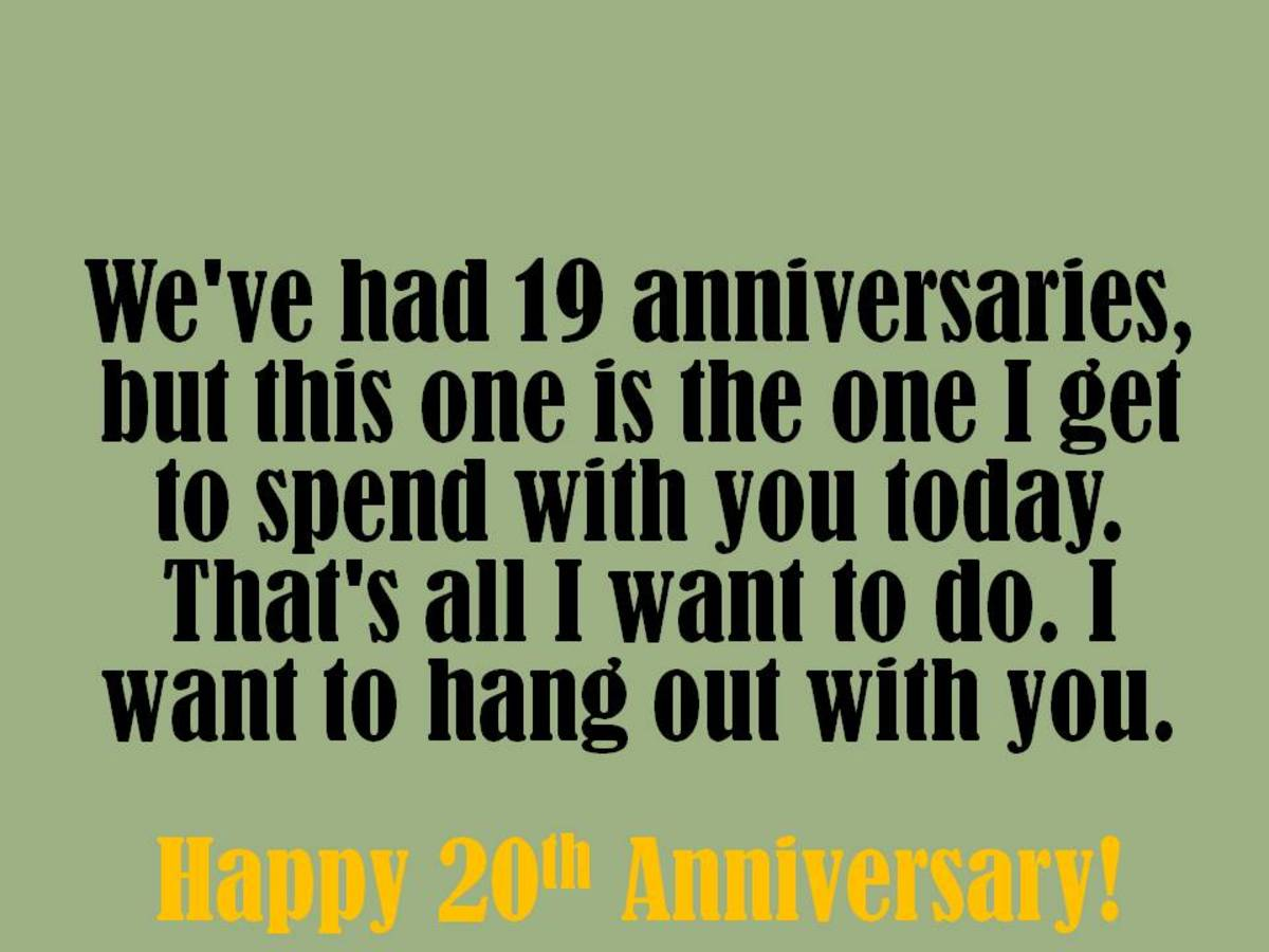 20th anniversary wishes quotes and messages to write in a