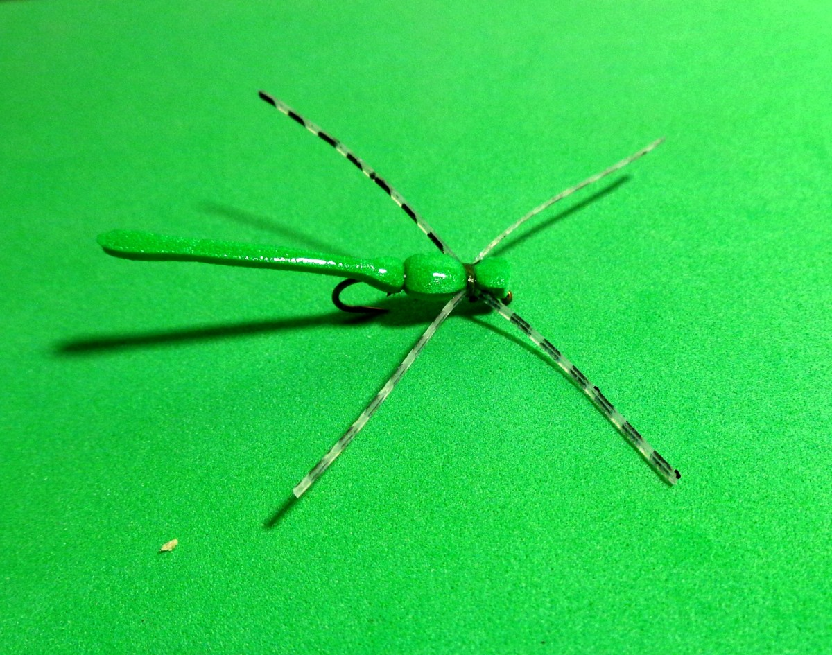 Fly Tying - Simple Foam Damsel Fly