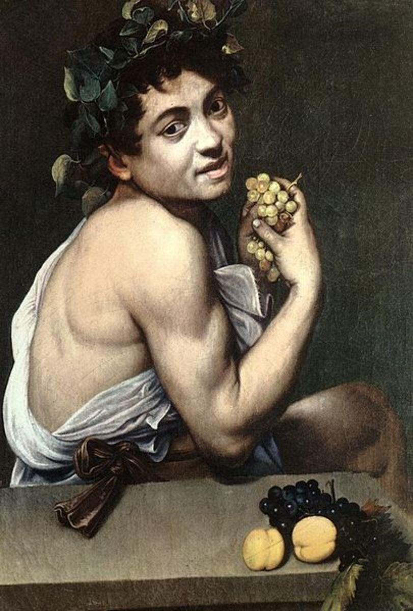 Caravaggio, Young Sick Bacchus (a. 1593), Rome Galleria Borghese