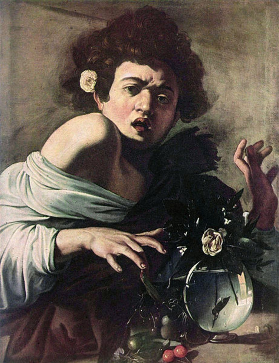 Caravaggio, Boy Bitten by a Lizard (a. 1595), Florence Fondazione Longhi