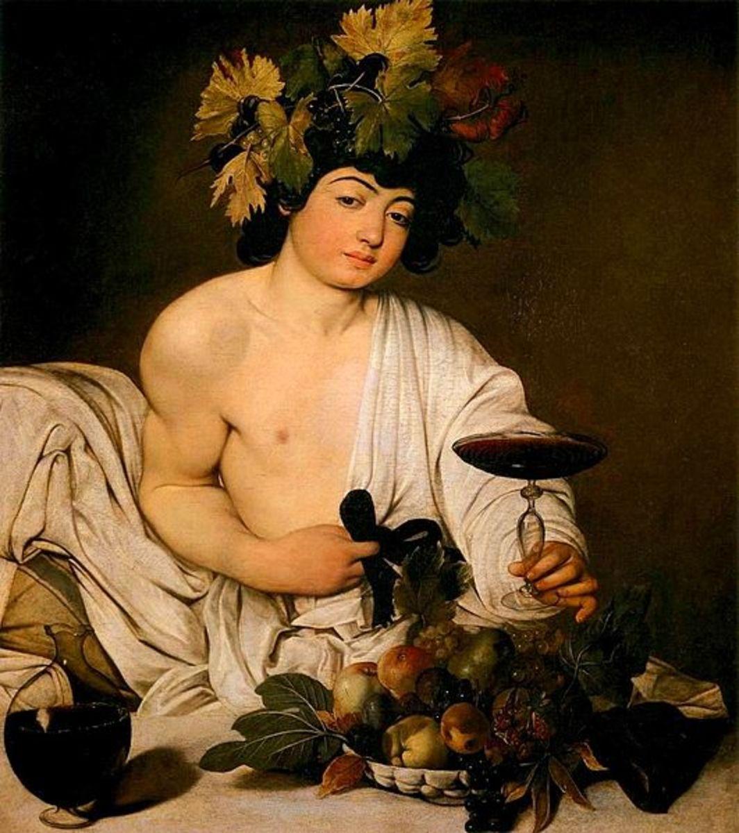 Caravaggio, Bacchus (a. 1596), Florence Uffizi