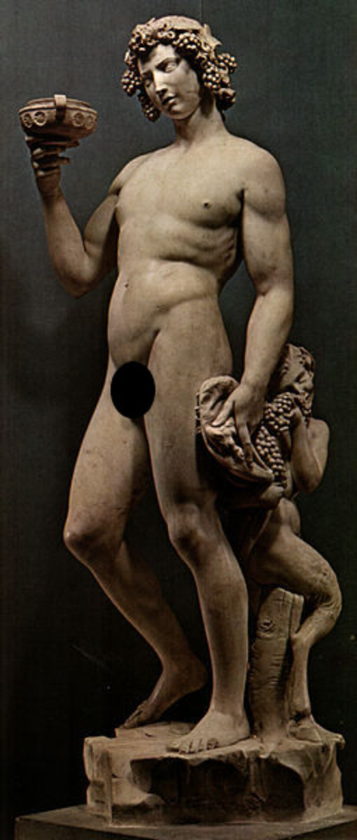 Michelangelo, Bacchus (a. 1497), Florence Museum of the Bargello