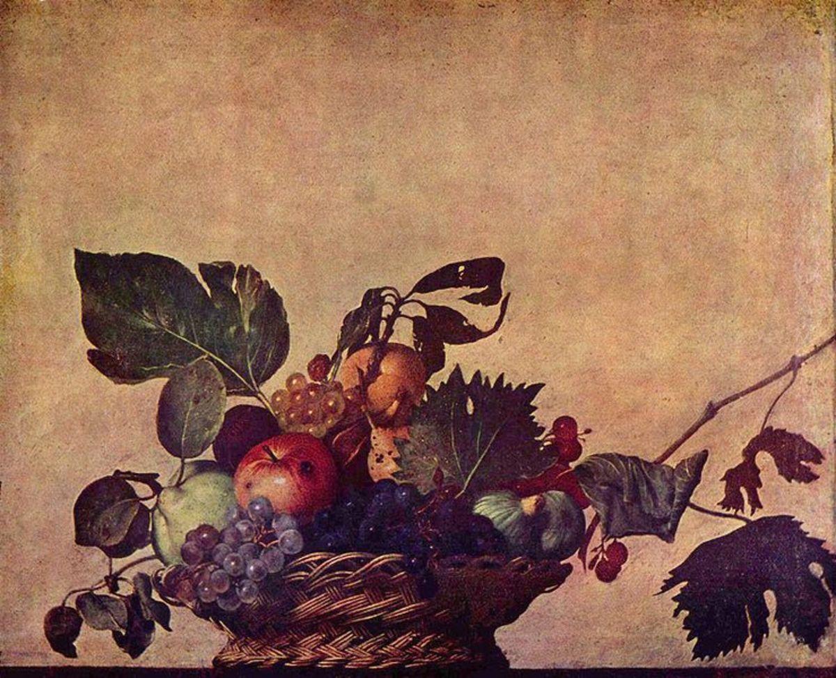 Caravaggio, Basket of Fruits (a. 1597), Milano Biblioteca Ambrosiana