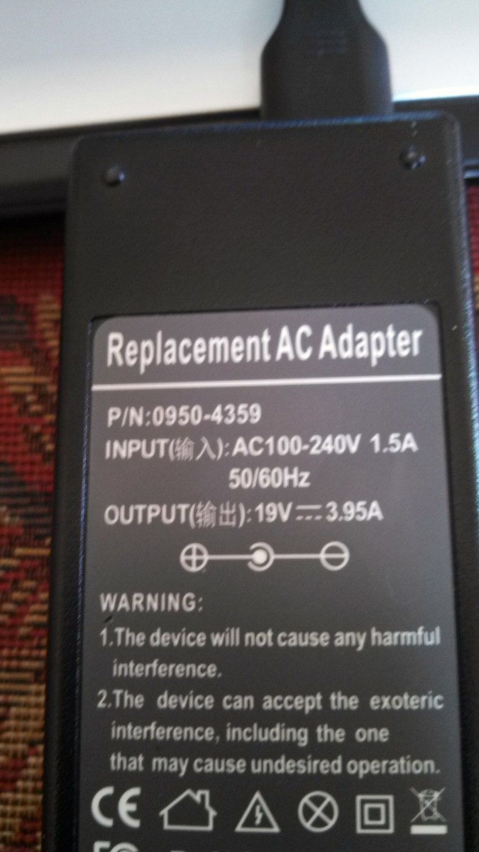 Replacement Laptop Power Supply- get enough amperage capacity and the correct power pin configuration