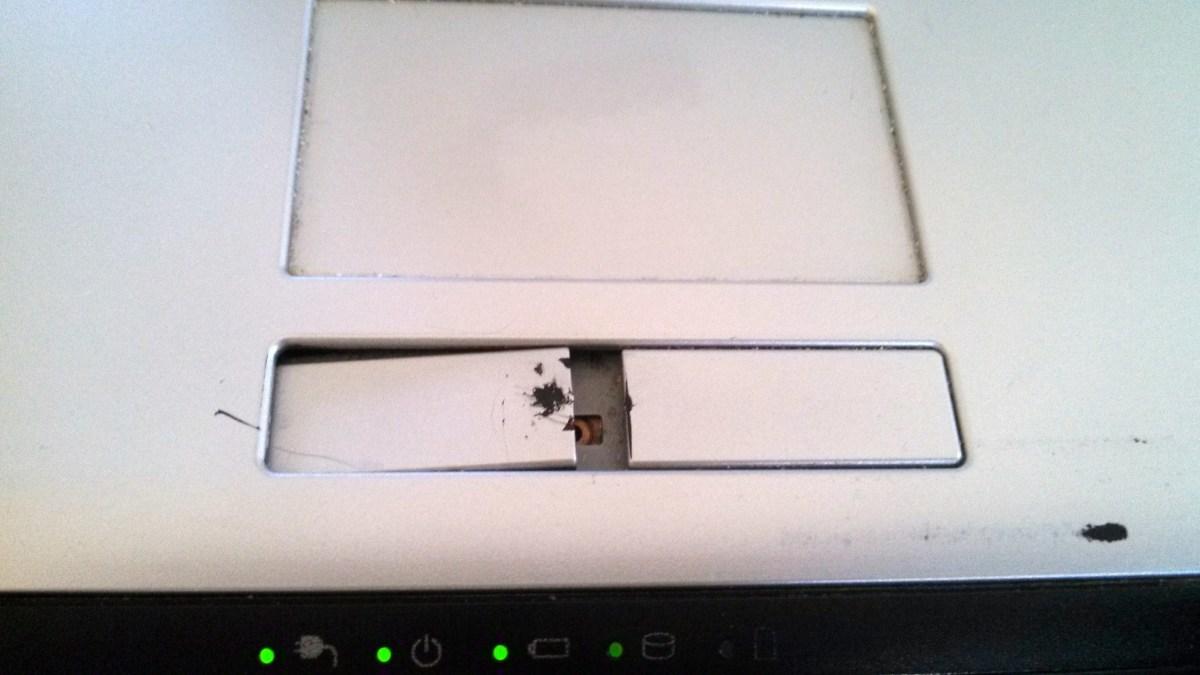 Broken Laptop Trackpad