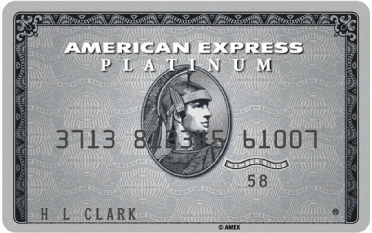 The front side of an American Express Platinum Charge Card