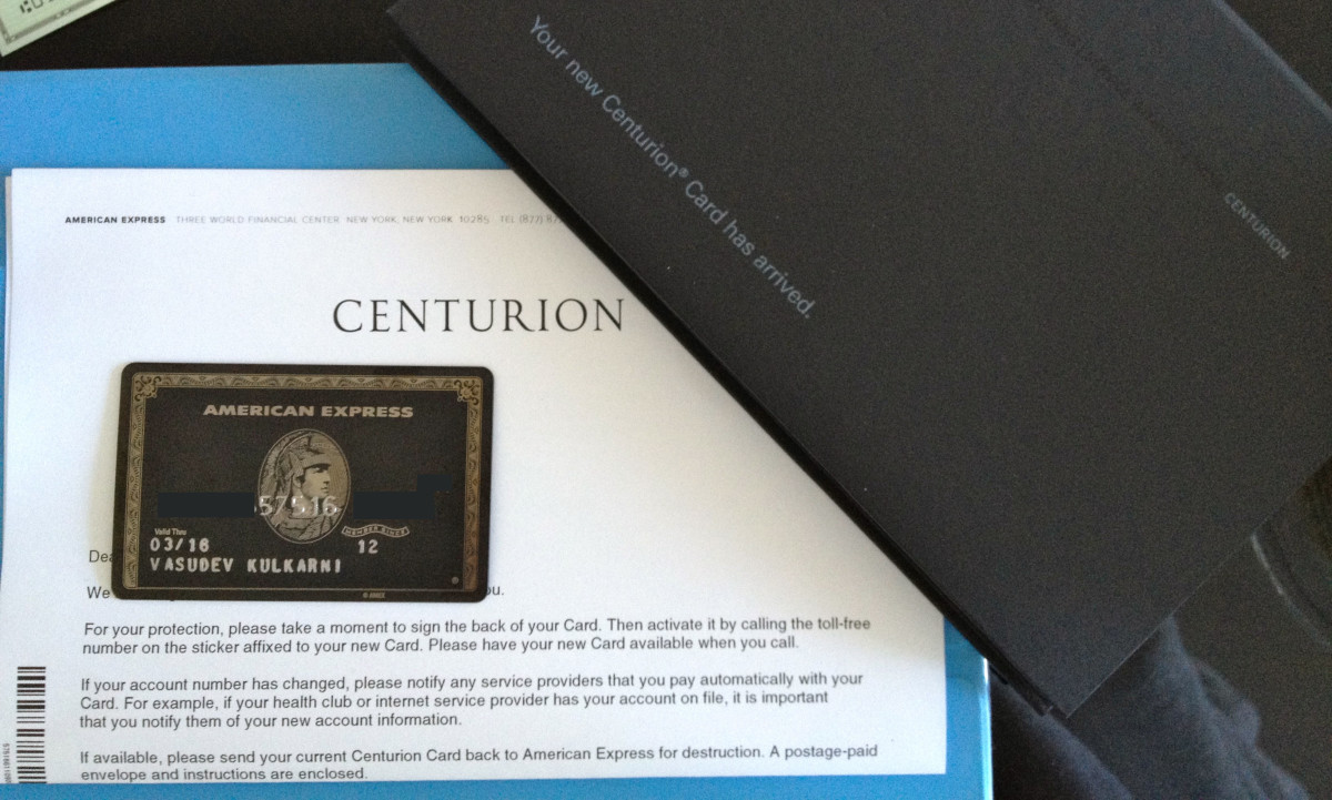An American Express Centurion/Black Card -Welcome Pack