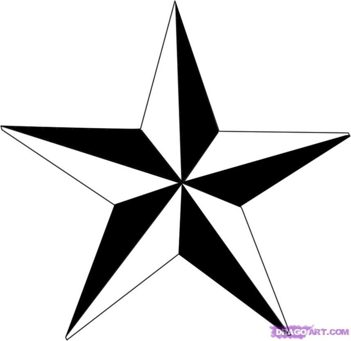 An example of a nautical star you can draw with this method.