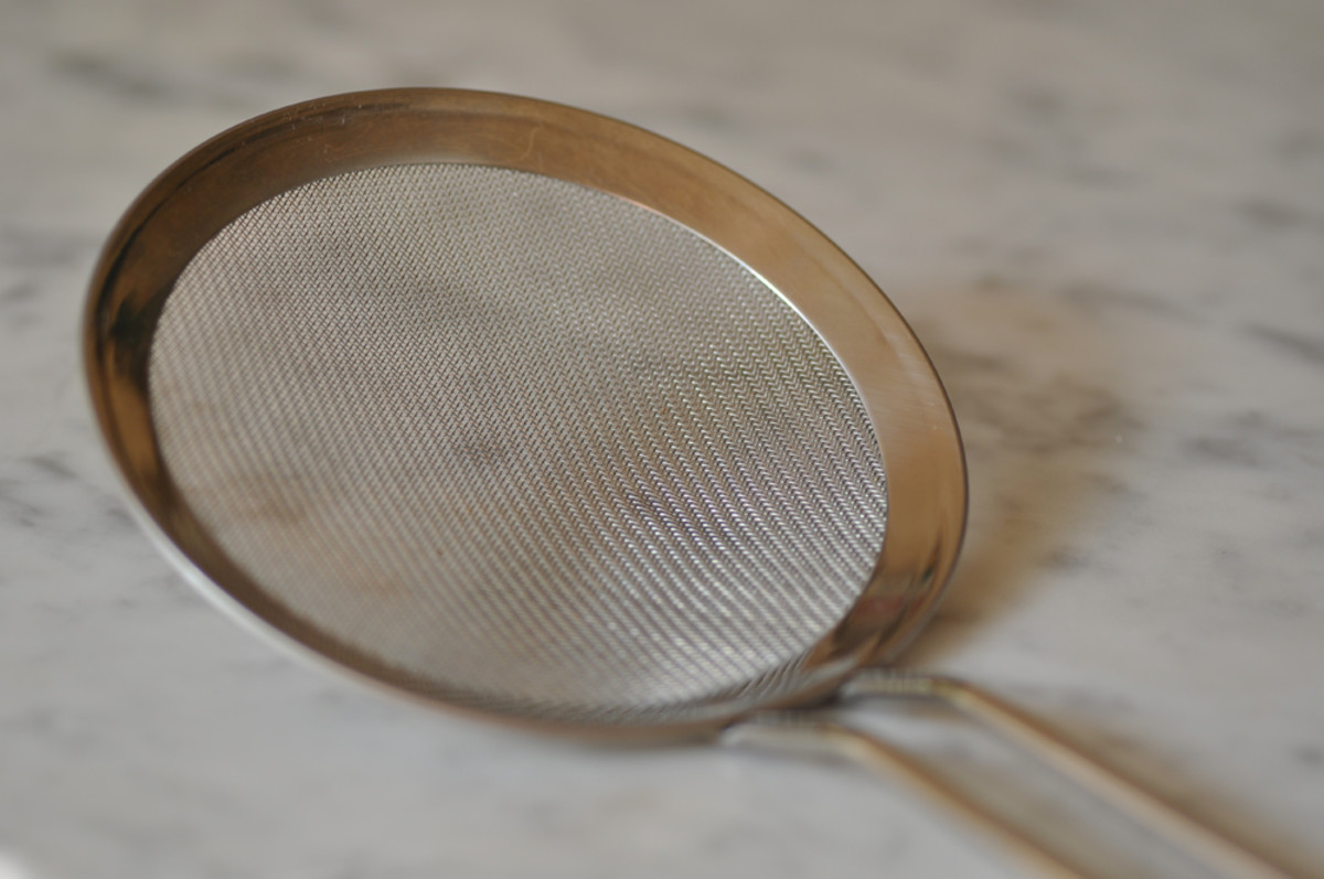 Fine mesh skimmer used for removing scum during cooking to ensure clear jelly.  Image: © Siu Ling Hui