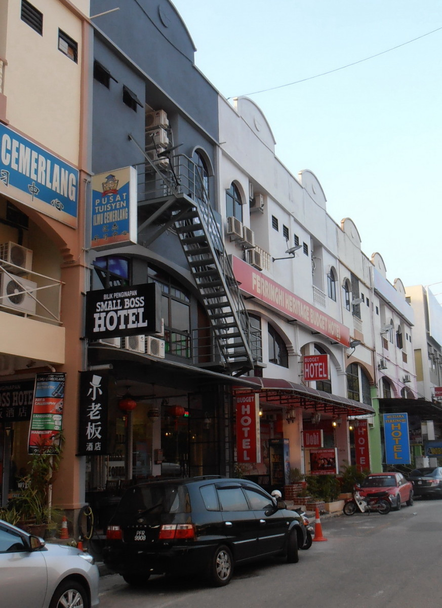 Some budget hotels at Batu Ferringhi, Penang