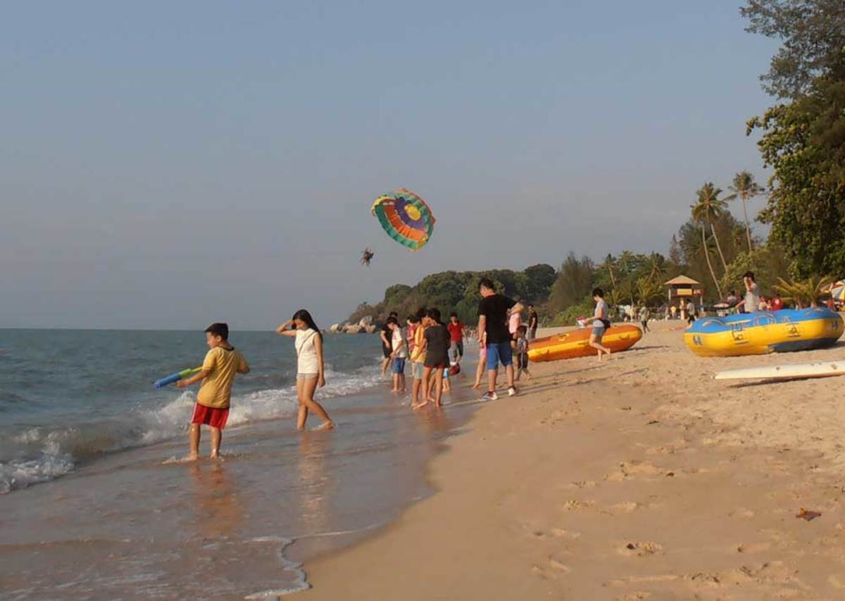 Children especially enjoy the beach.