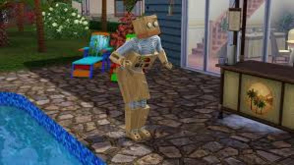 Is it a Sim? Is it a robot? No...it is a Simbot fan!