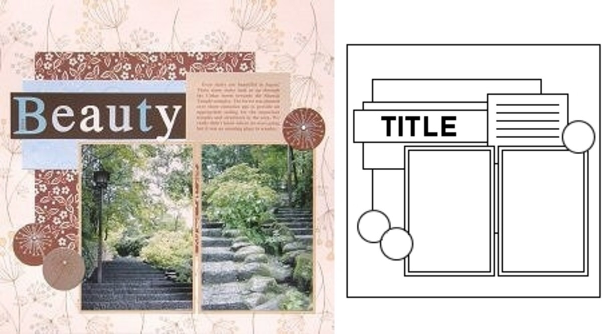 Converting a sketch into a scrapbook page is easy when you understand the elements