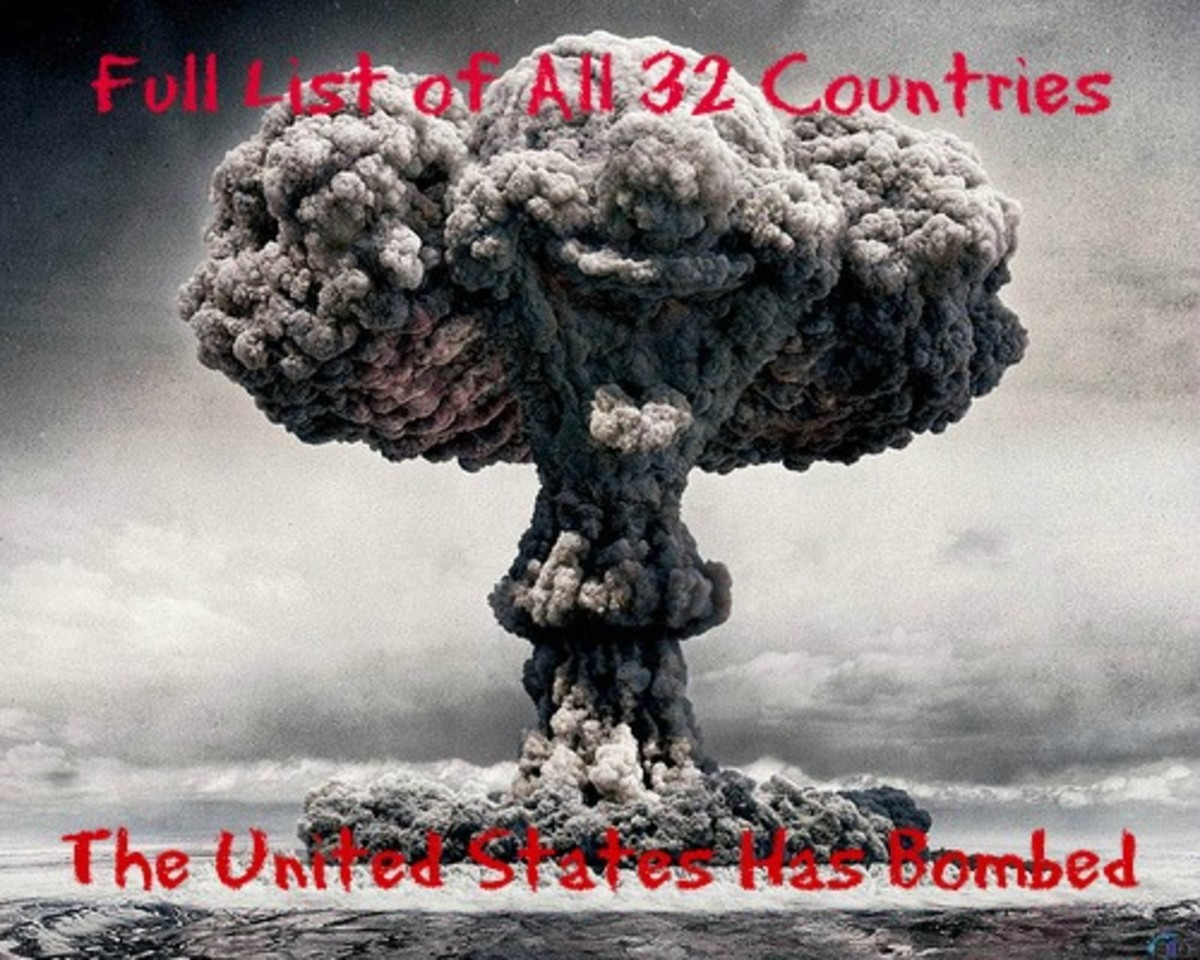 How Many Countries Has The United States Bombed?