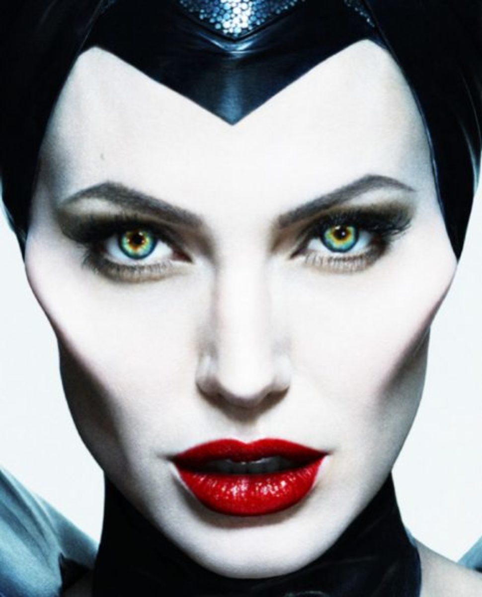 Maleficent Movie Makeup Eyes and Nails - Movie Makeup