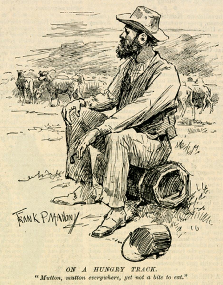 'On A Hungry Track', 1896, Frank P. Mahony