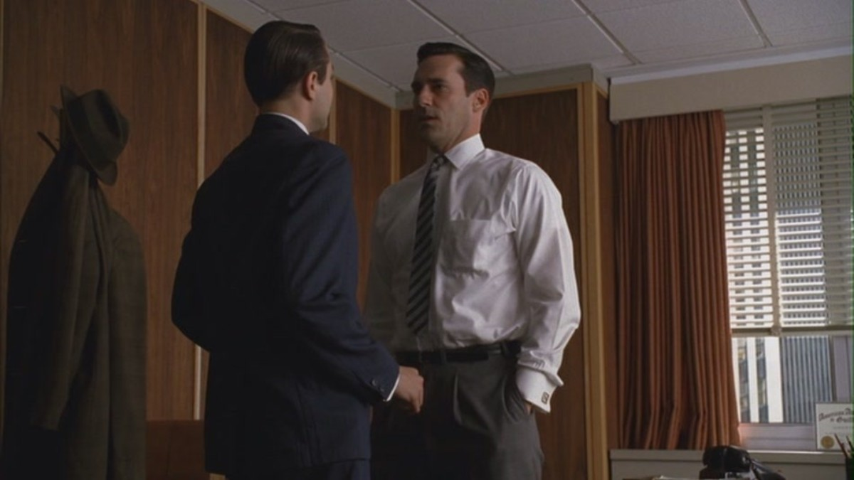 "Don Draper vs. Pete Campbell in ""Nixon vs. Kennedy"""