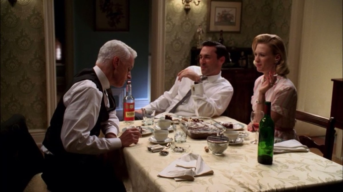 "Roger is invited to dinner in ""Red in the Face"""