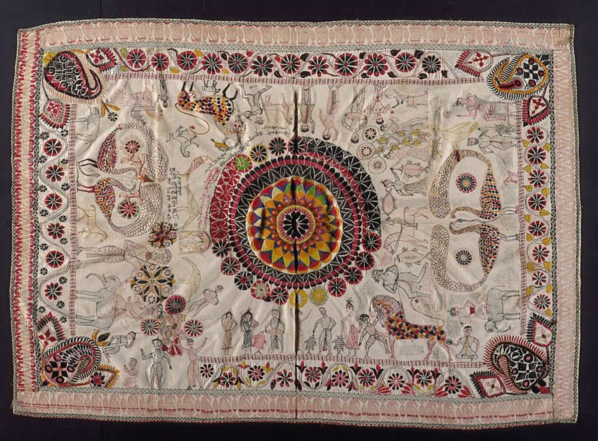 Kantha Quilt or bedcover in Bengal, 19th century Textiles