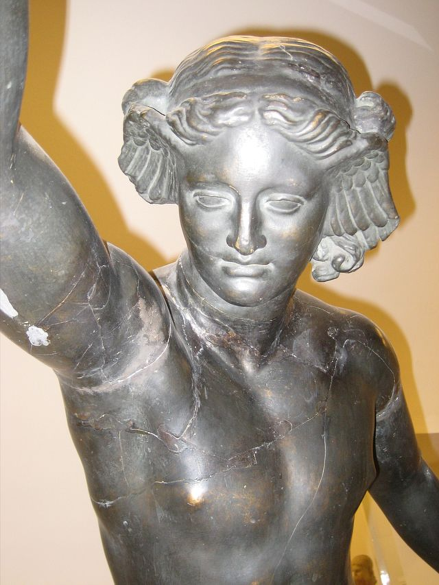 Hypnos with his customary wings on his temples