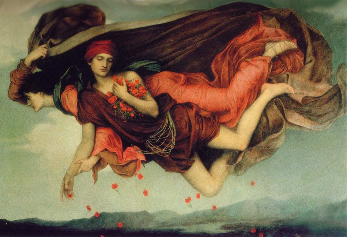 Nyx and her son Hypnos on their nightly flight