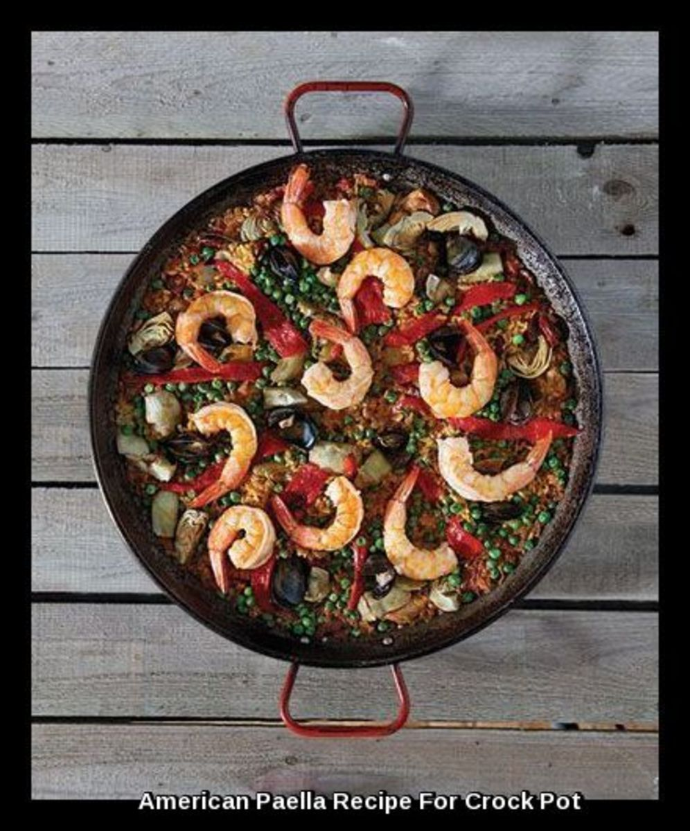 Here we have a recipe for American Paella that can be made quickly and easily in the crock pot or slow cooker.
