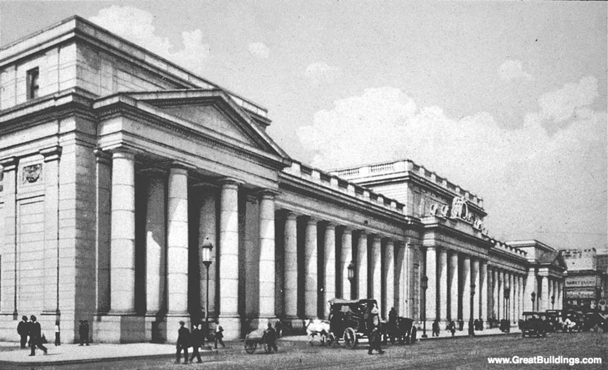 Pennsylvania Railroad Station: 1904-10.  The Great Buildings Collection: Architecture and Places of the World.