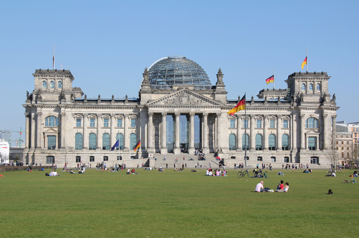 """The Reichstag, Berlin Germany, 1884-1894, Paul Wallot, Norman Foster. The Great Buildings Collection: Architecture and Places of the World. """"House of the German Parliament, the Bundestag""""."""