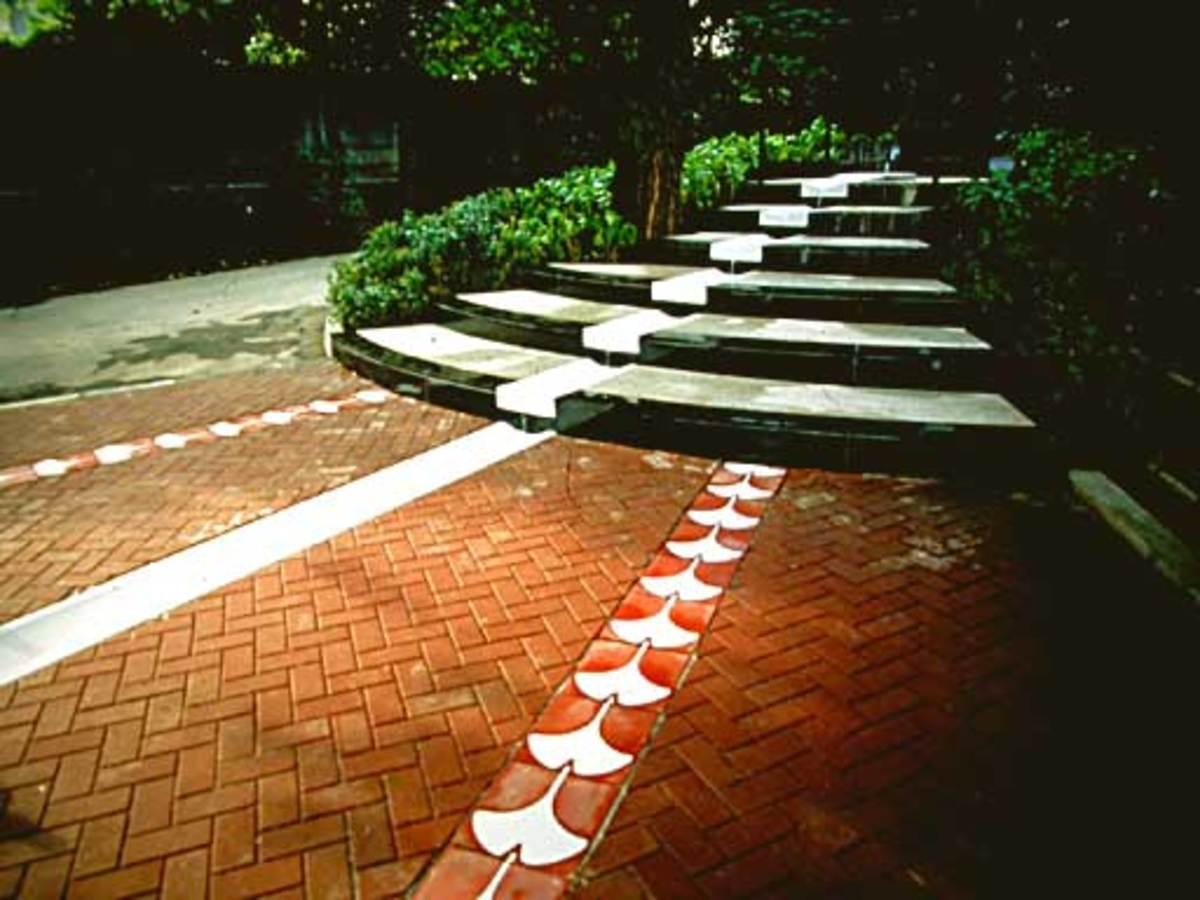 Ginkgo design in Tokyo's Dutch embassy
