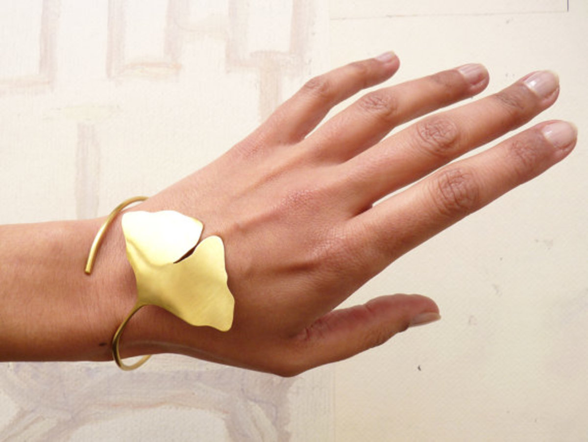 Ginkgo leaf design in Jewellery