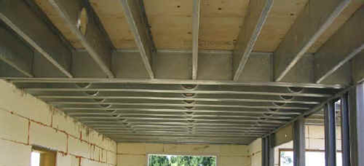 Metal ceiling joists cannot have overhead storage racks installed on them.