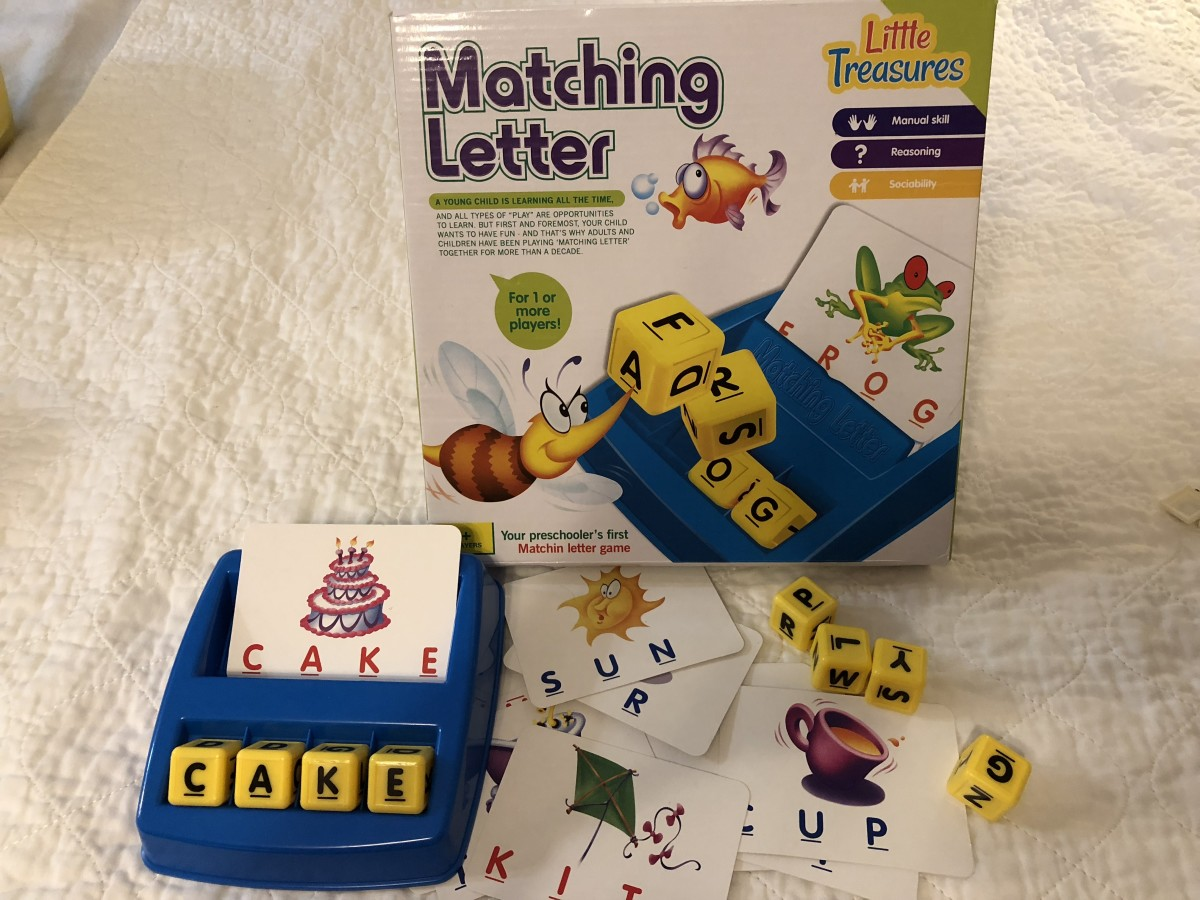 This is the Little Treasures Matching Letter game. It's very similar to Boggle Jr. but costs less. If I'm going to loan one to a child for practice, this is the one I give them.