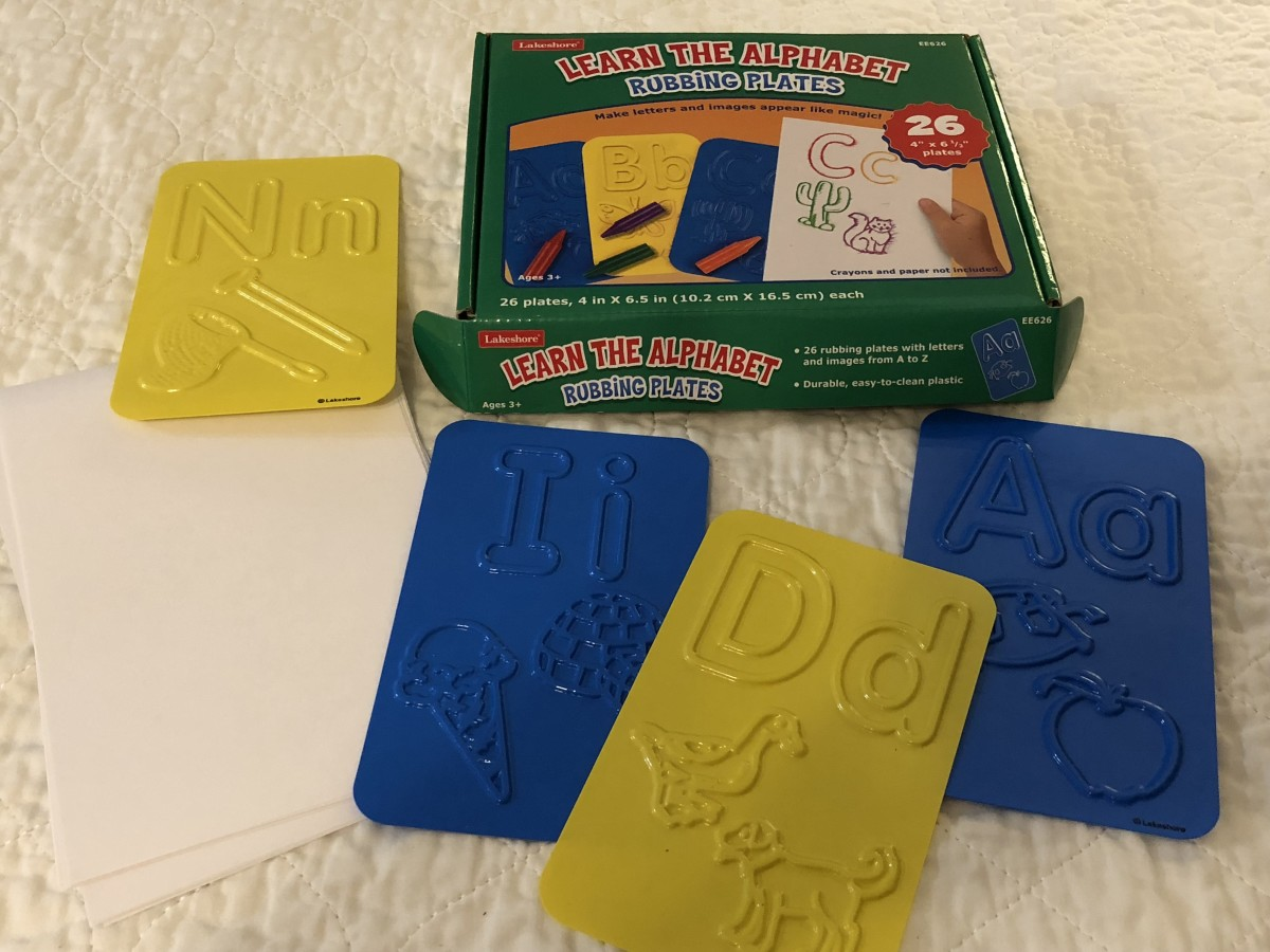 Lakeshore Learning Learn-the-Alphabet Rubbing Plates