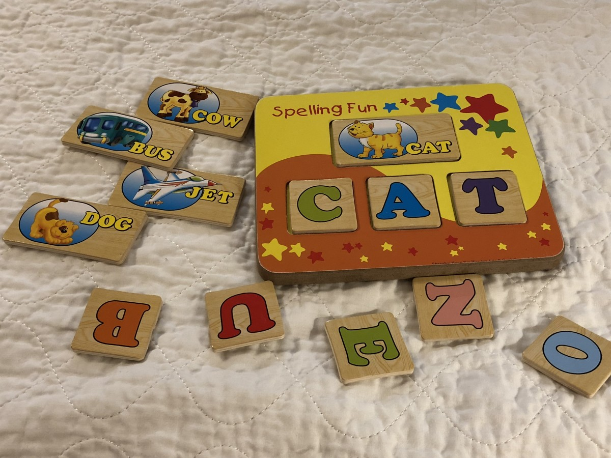 This is the Spell and Learn Fun Set by Creative Playthings. I love this activity. I've bought three of these over the years. The most recent one I gave to a child for Christmas because he liked it so much.