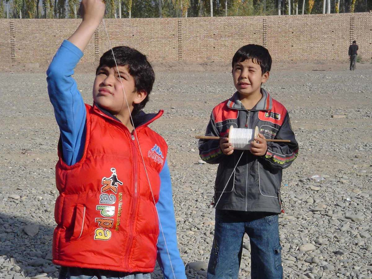 Amir and Hassan flying kites
