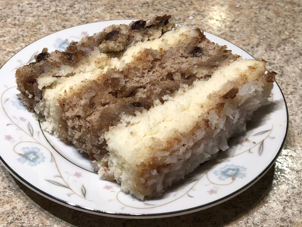 Serving of Japanese Fruitcake