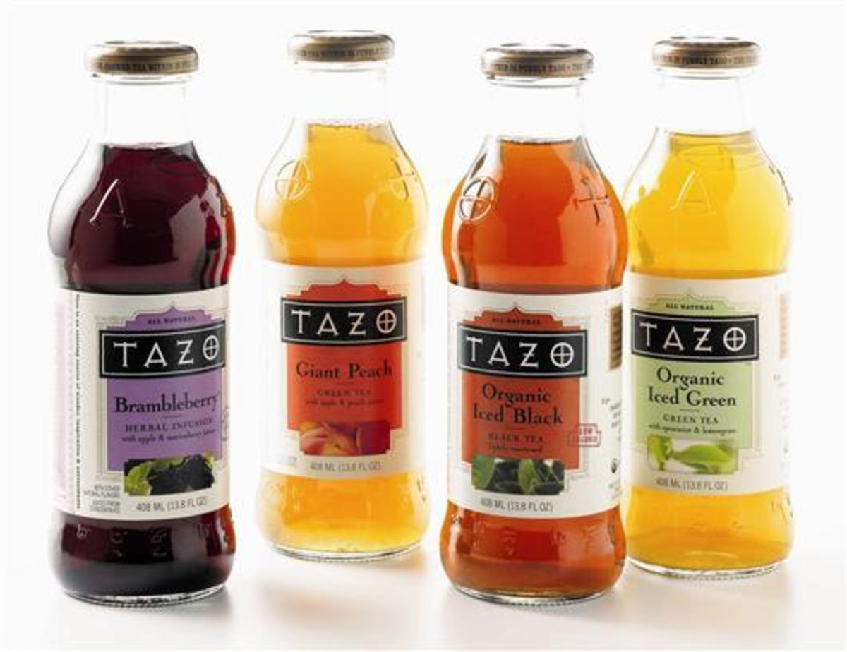 Tazo also offers a line of bottled teas, as well as a number of flavors of tea that Starbucks does not serve.