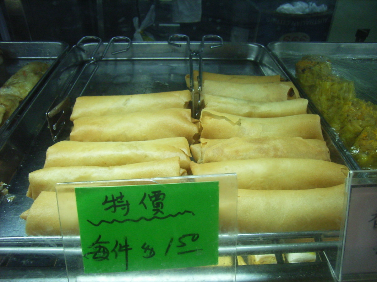 Chinese Steamed Spring Rolls
