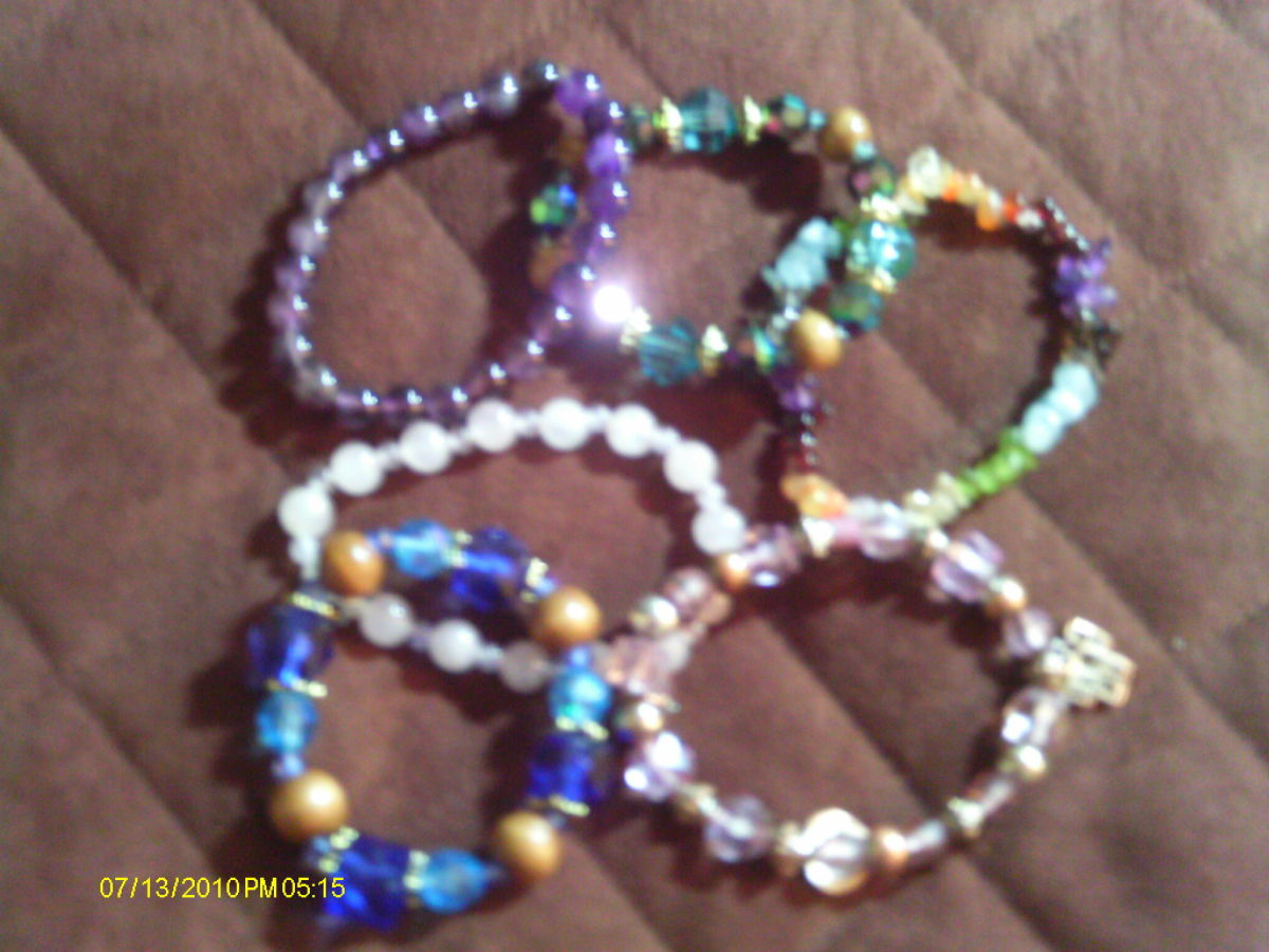 Beautiful bracelets can be made on a summer  afternoon