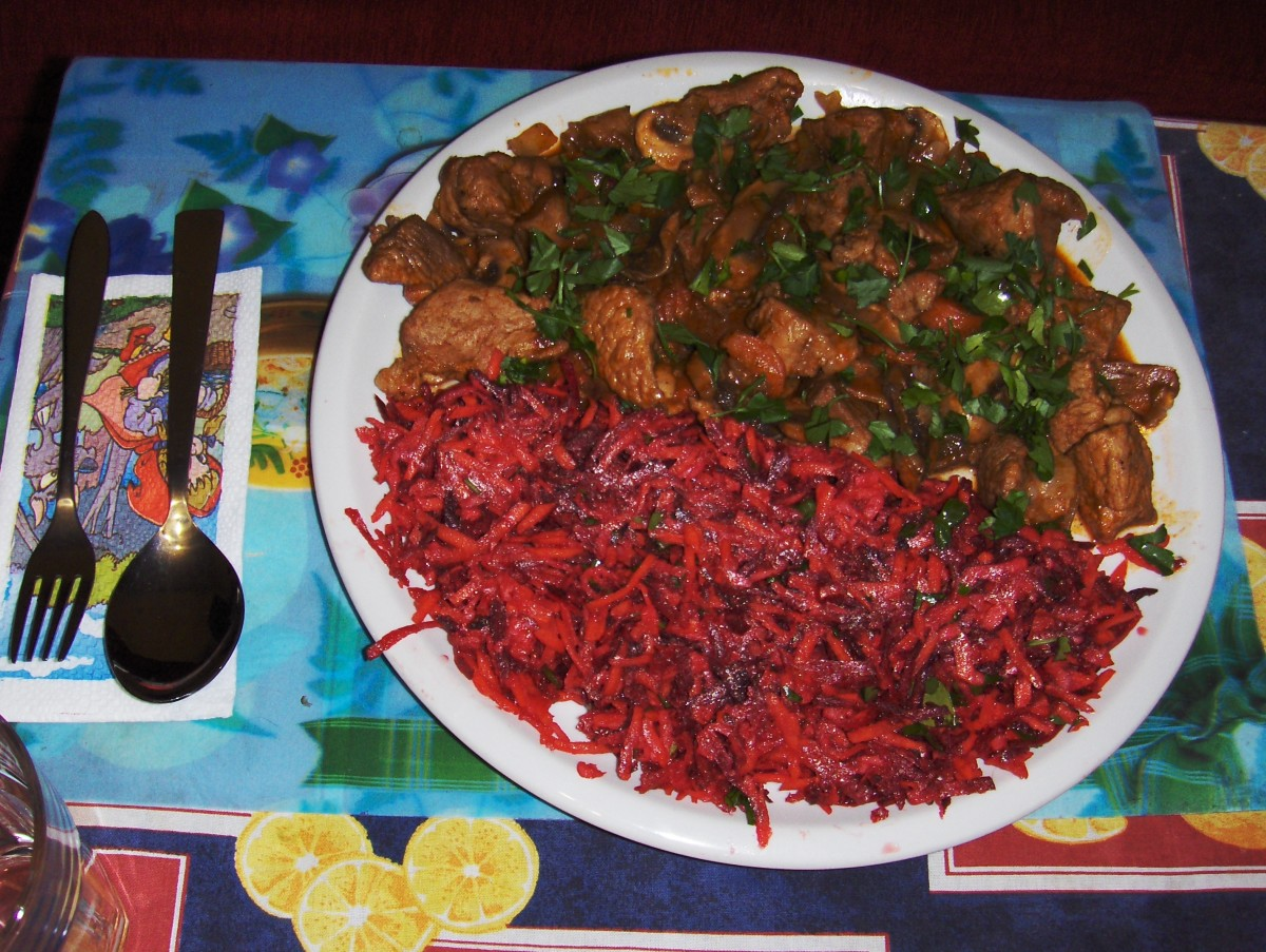 High vitamin salad  as a garnish to a pork chops.