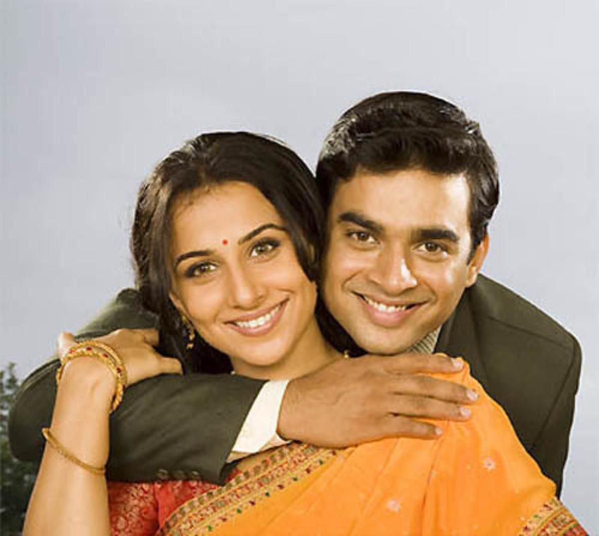 Vidya Balan and R Madhavan in Guru.