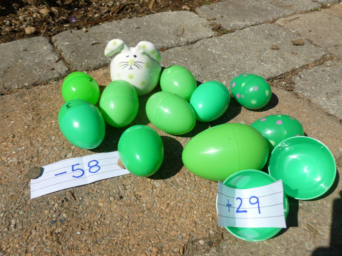 Pick one color for the big kids and put a number in each egg.