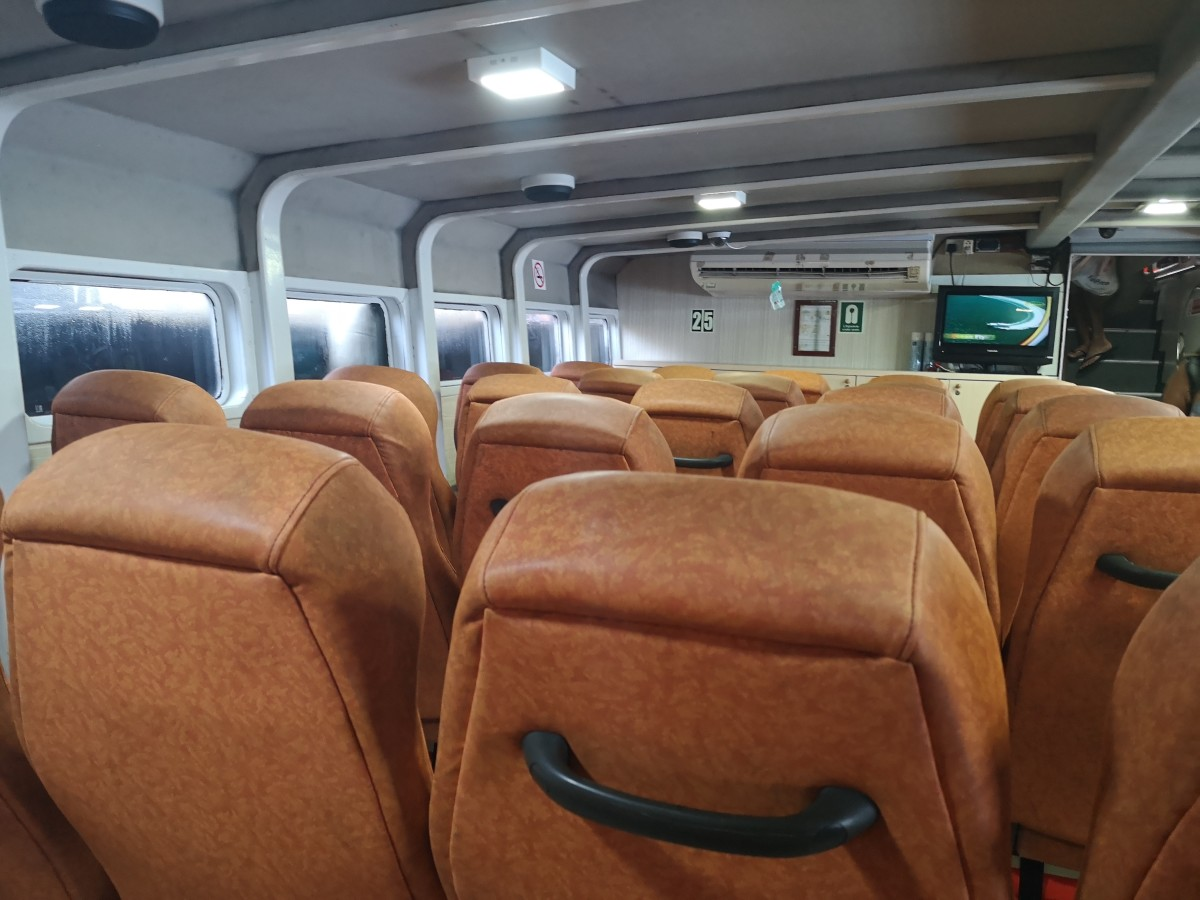 Inside Batam Fast Ferry