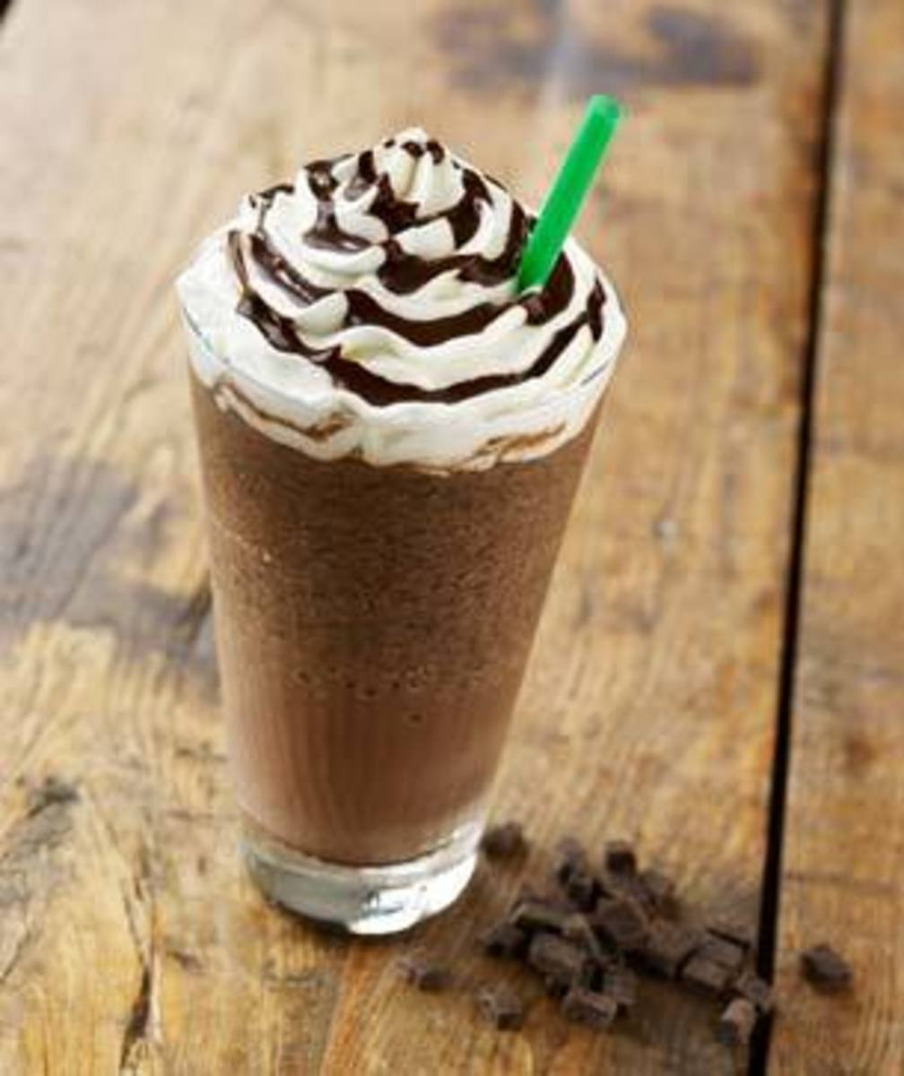 The non-caffeinated Double Chocolatey Chip Frappuccino.